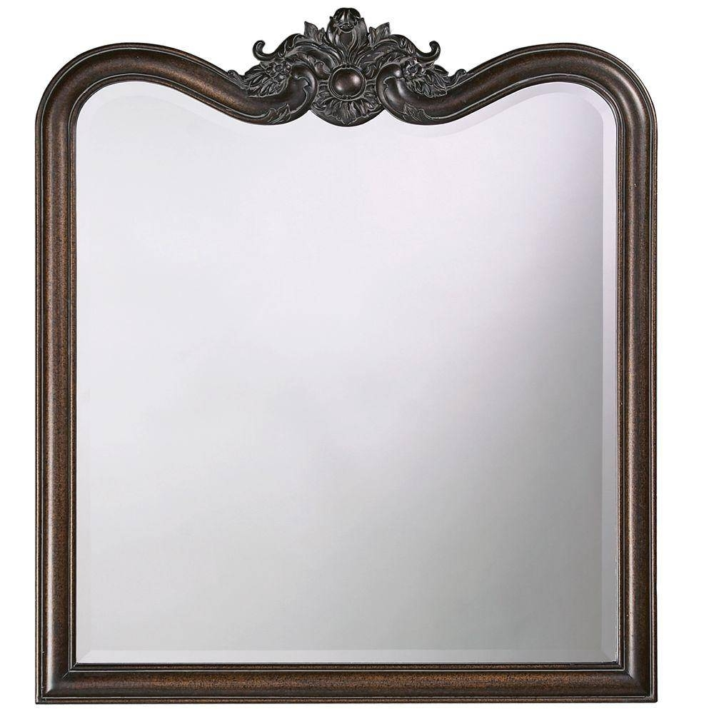34 In. X 38 In. Vintage Framed Mirror In Antique Bronze-4079 - The for Bronze Wall Mirrors (Image 1 of 25)