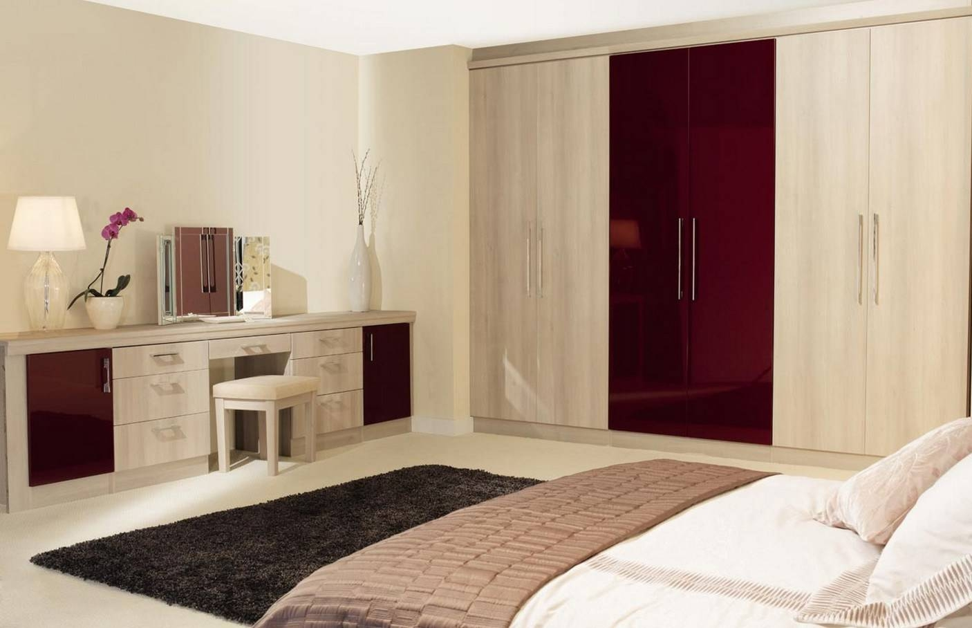 35+ Images Of Wardrobe Designs For Bedrooms within Bed And Wardrobes Combination (Image 1 of 15)