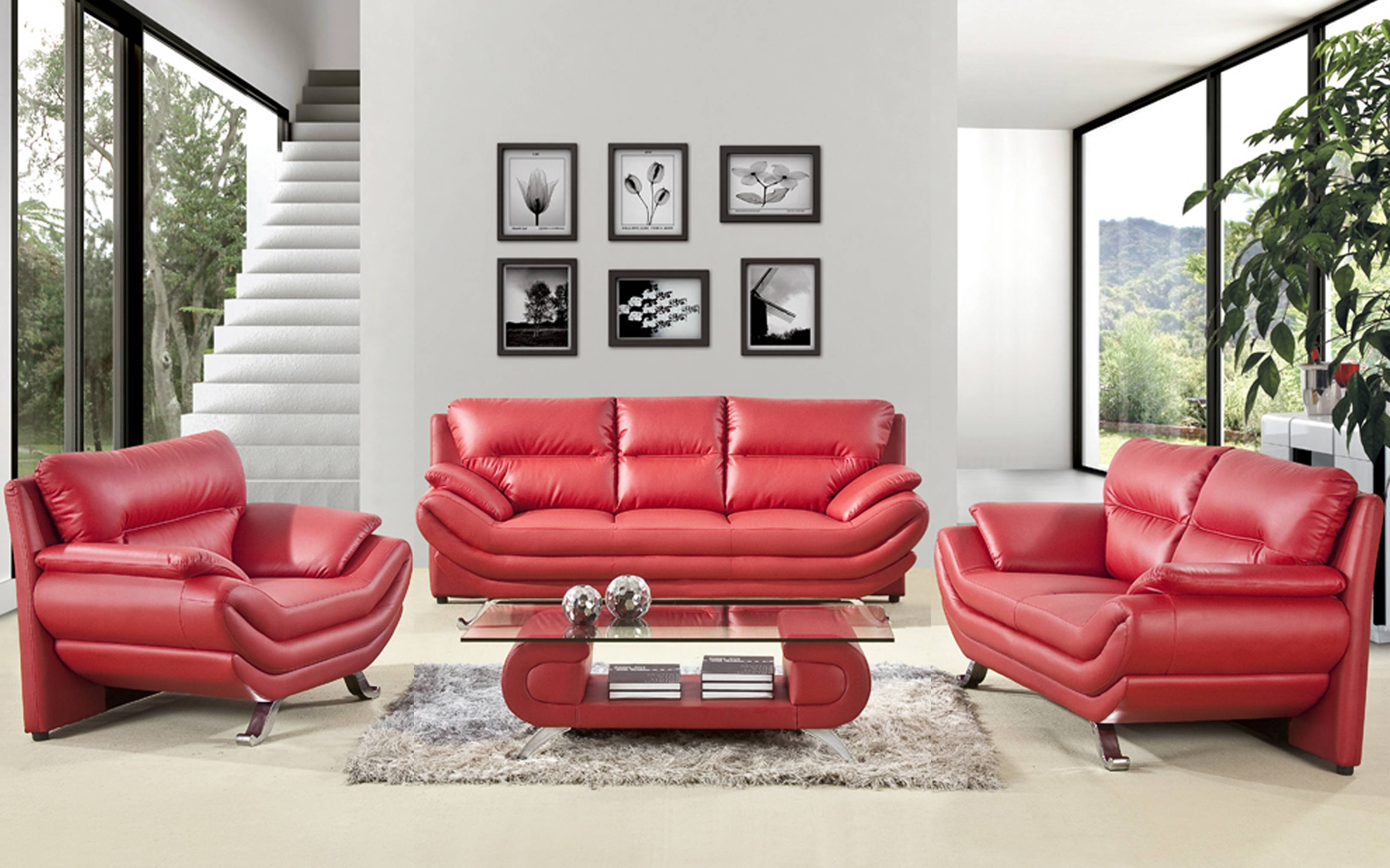 35 ~ Images Various Red Sofa Sets Pictures. Ambito.co regarding Red Sofa Chairs (Image 2 of 30)