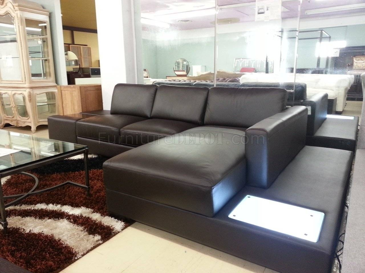 35 Mini Sectional Sofa In Off-White Leather within Mini Sectional Sofas (Image 1 of 30)
