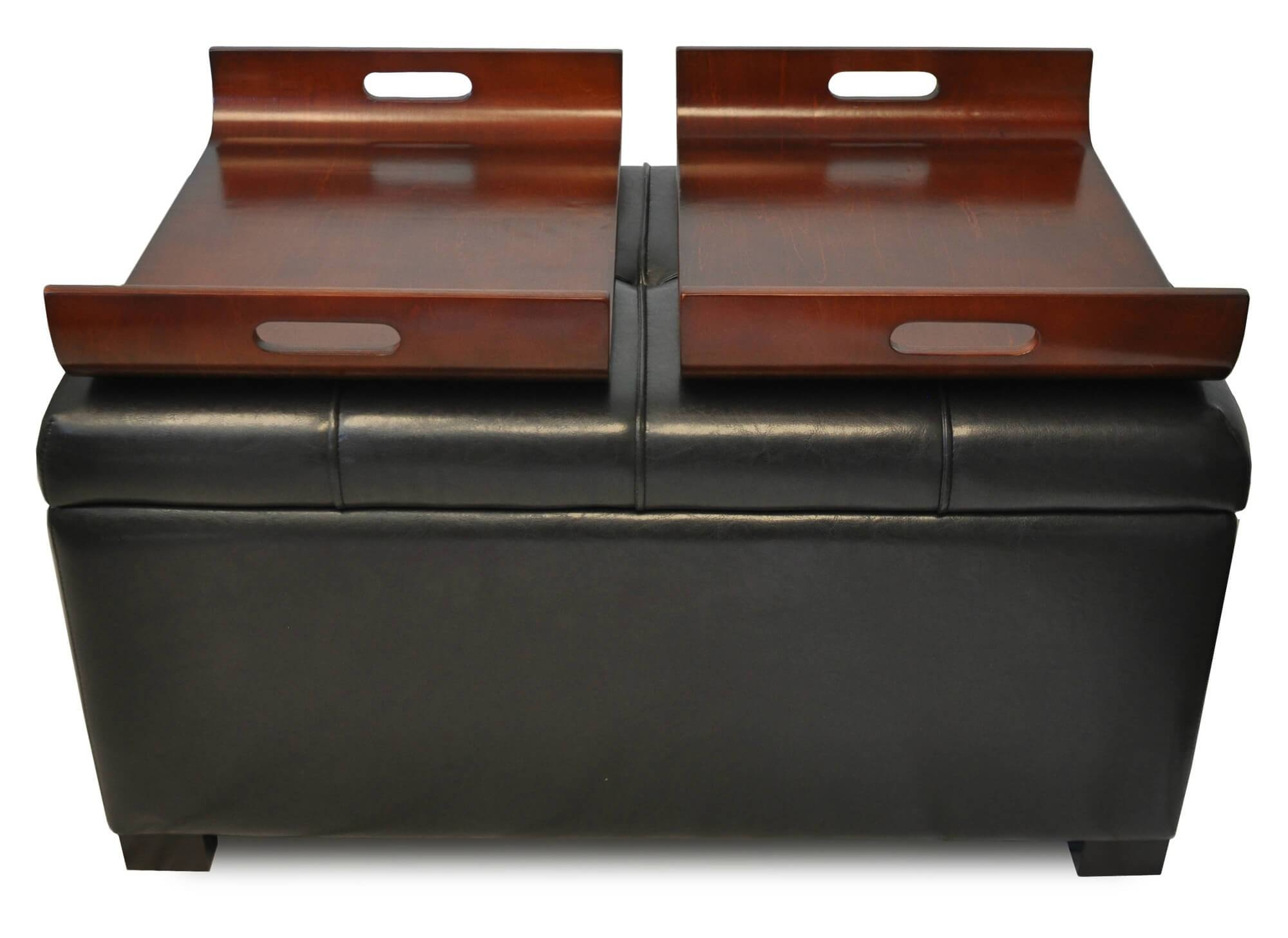 36 Top Brown Leather Ottoman Coffee Tables in Brown Leather Ottoman Coffee Tables (Image 2 of 30)