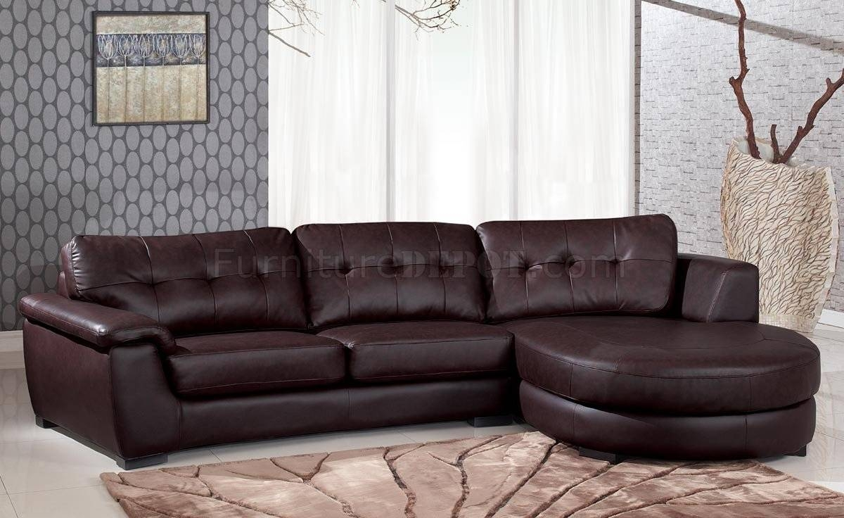 3612 Sectional Sofa In Brown Leatherglobal intended for Comfortable Sectional Sofa (Image 3 of 30)