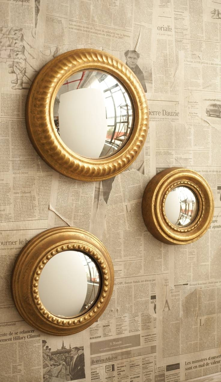 38 Best L Adore Convex Mirrors! Mayrosevintage.blogspot Images With Regard To Small Gold Mirrors (Photo 3 of 25)