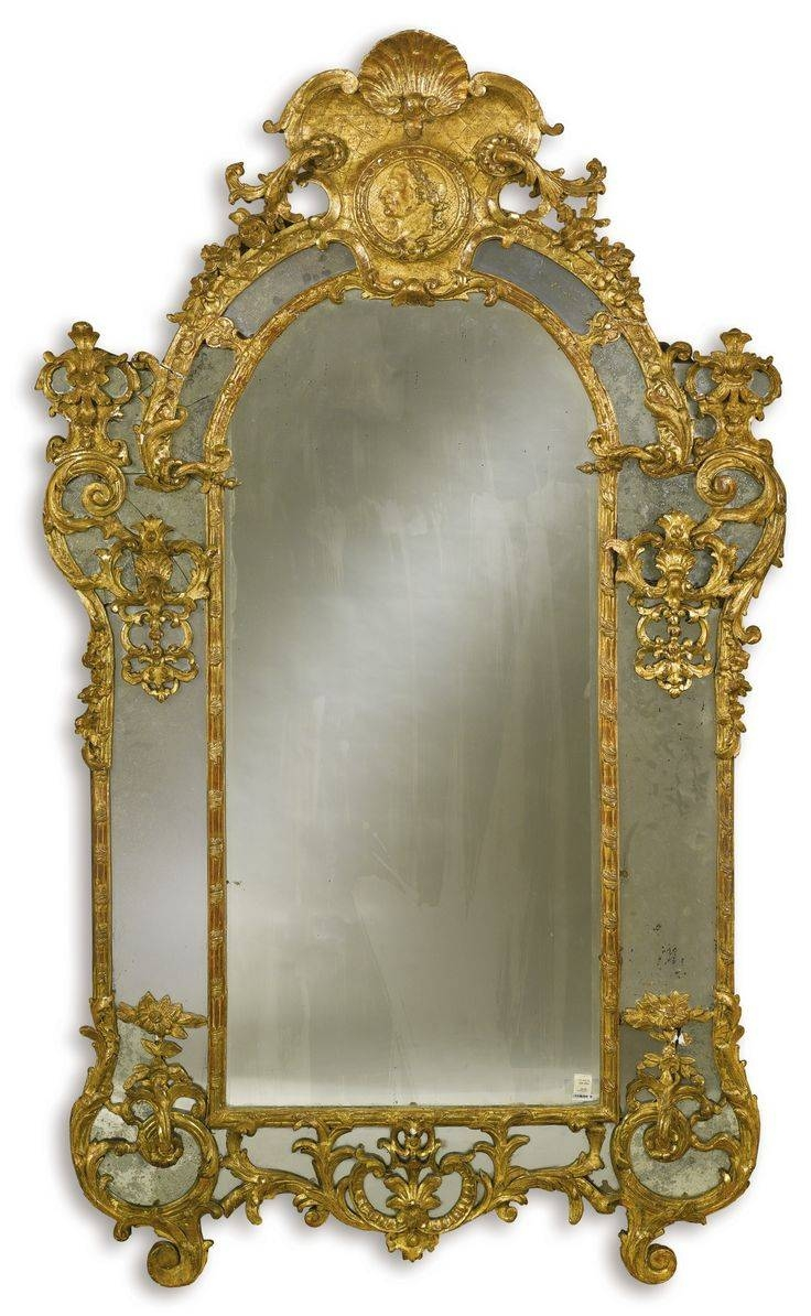 397 Best Mirrors Images On Pinterest | Mirror Mirror, Antique Intended For Antique Gilded Mirrors (Photo 8 of 25)