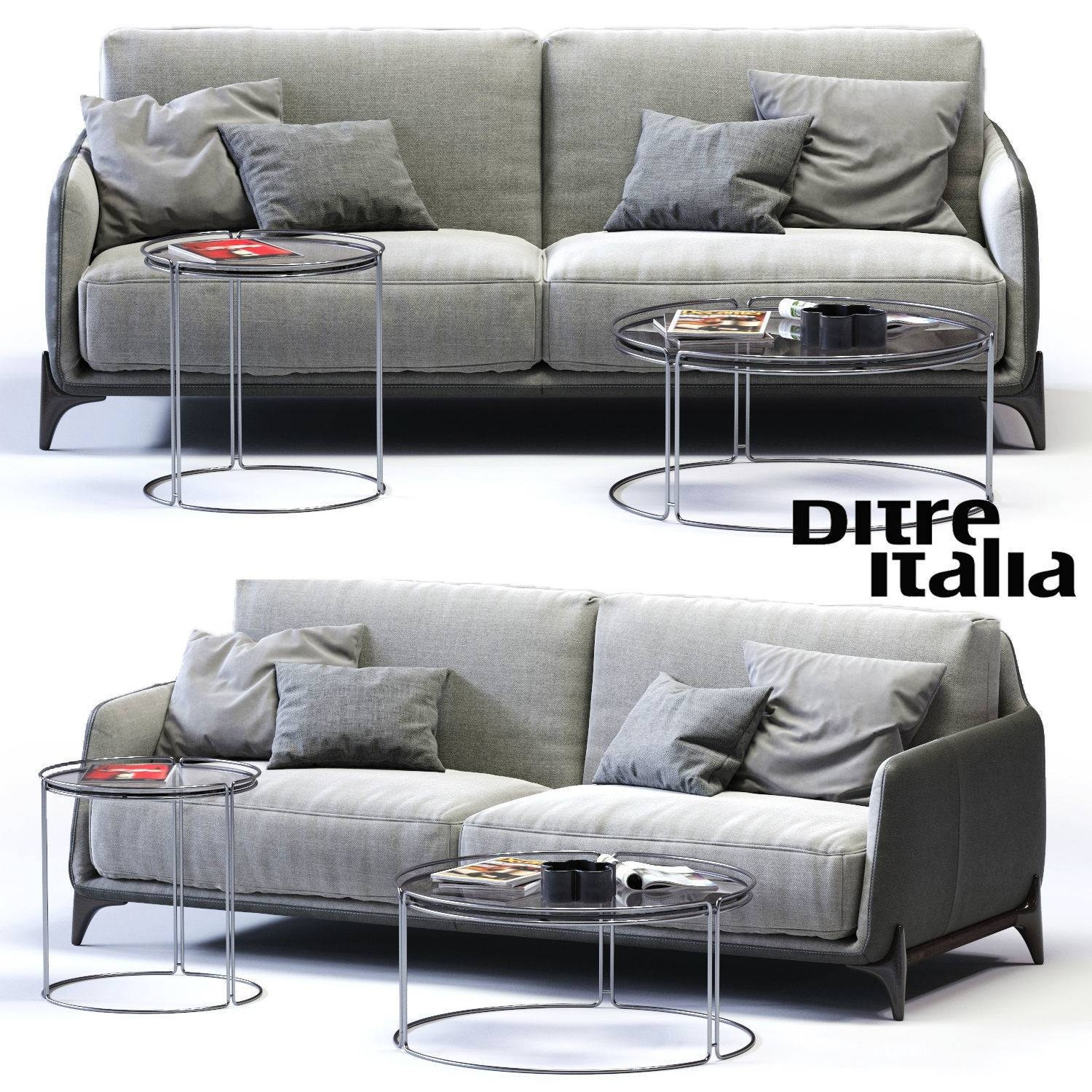 3D Model Ditre Italia Elliot 3-Er Sofa Vr / Ar / Low-Poly Max Obj Fbx for Elliott Sofa (Image 3 of 30)