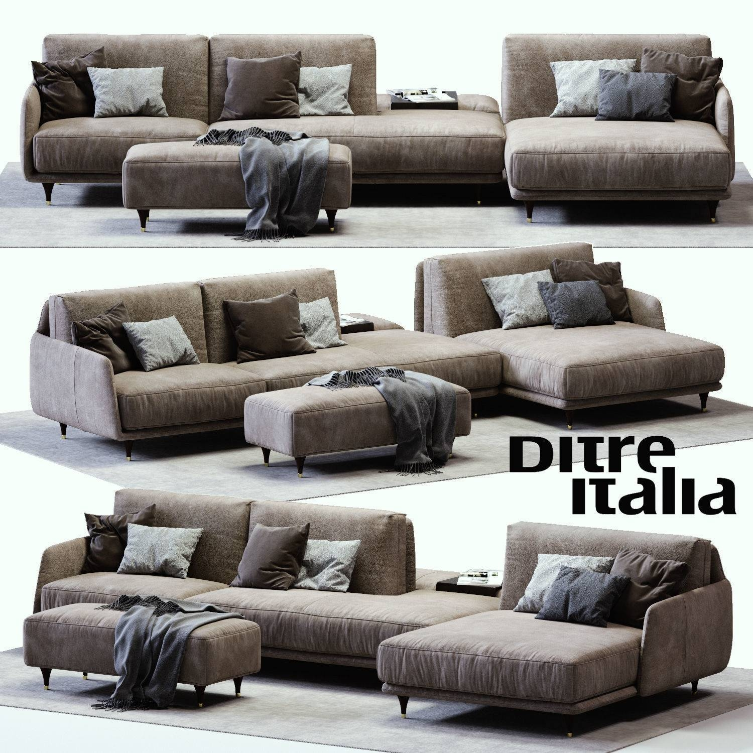 3D Model Ditre Italia Elliot Sofa Vr / Ar / Low-Poly Max Obj Fbx intended for Elliott Sofa (Image 4 of 30)