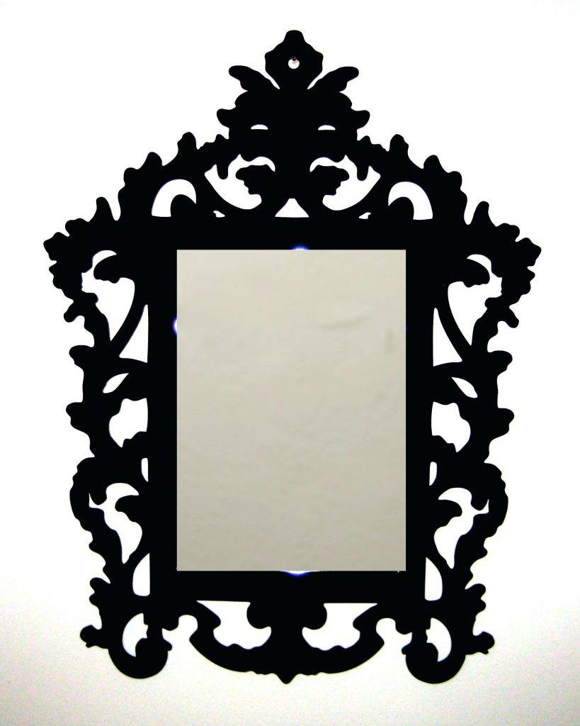 3Mm Laser Cut Acrylic Rococo Inspired Baroque Mirror Frameplastic with regard to Small Baroque Mirrors (Image 2 of 25)