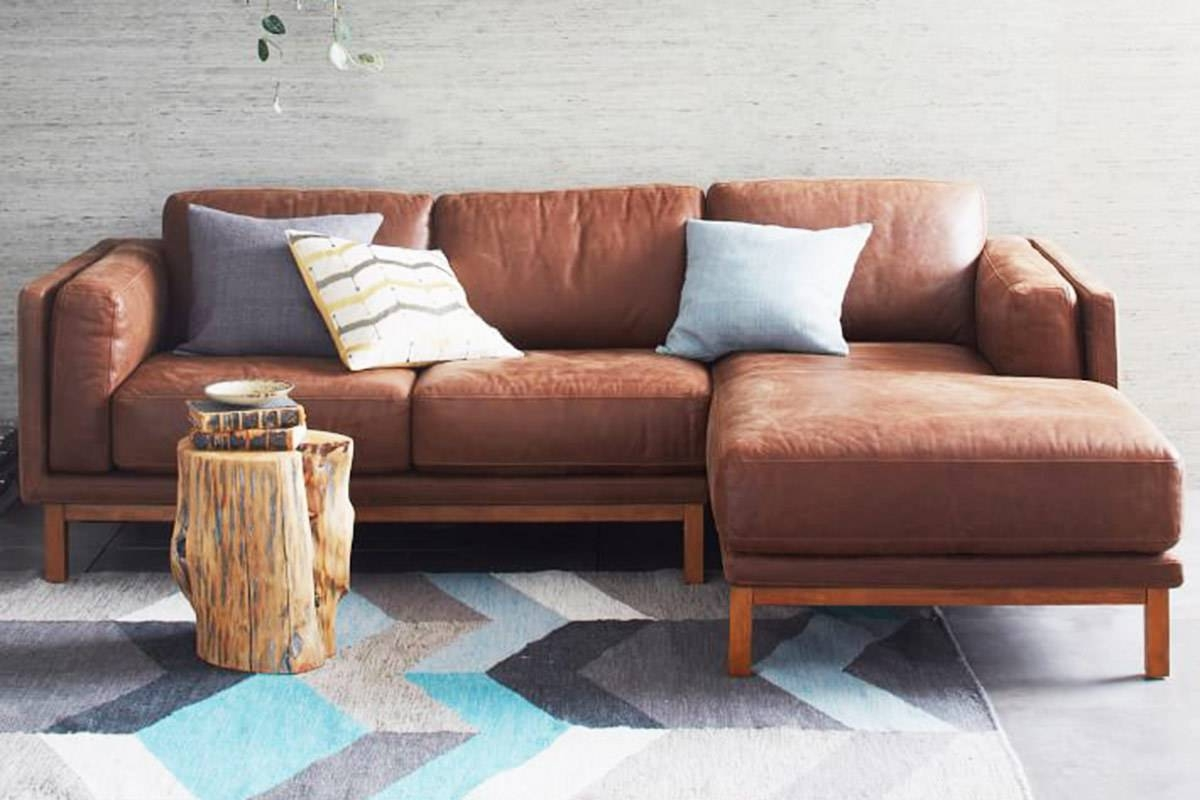 4 Modern Leather Sectional Sofas For A Better Living Room pertaining to West Elm Sectional Sofa (Image 1 of 30)