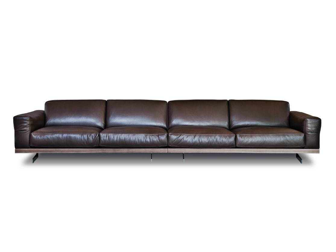 470 Fancy | Leather Sofavibieffe Design Gianluigi Landoni In 4 Seat Leather Sofas (View 3 of 30)