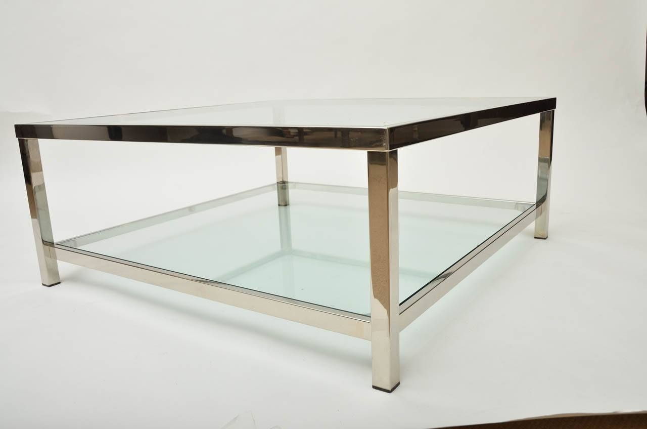 48 Inch Square Glass Top Coffee Table | Coffee Tables Decoration pertaining to Large Square Wood Coffee Tables (Image 1 of 30)