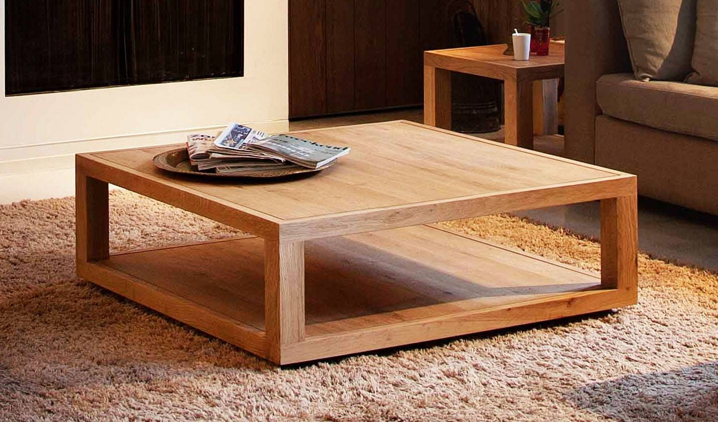 48 Inch Square Glass Top Coffee Table | Coffee Tables Decoration Within Square Large Coffee Tables (Photo 30 of 30)