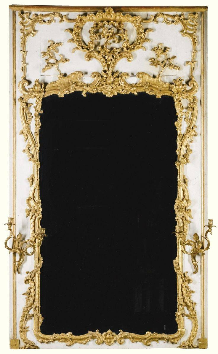 480 Best Mirrors Images On Pinterest | Mirror Mirror, Antique in White Rococo Mirrors (Image 5 of 25)