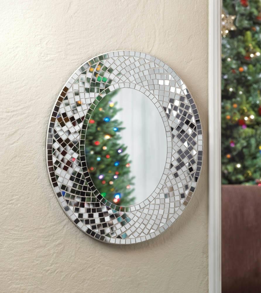 49 Mirror Mosaic Wall Art, Mosaic Decorative Mirror Lily Mirrors for Mosaic Wall Mirrors (Image 1 of 25)