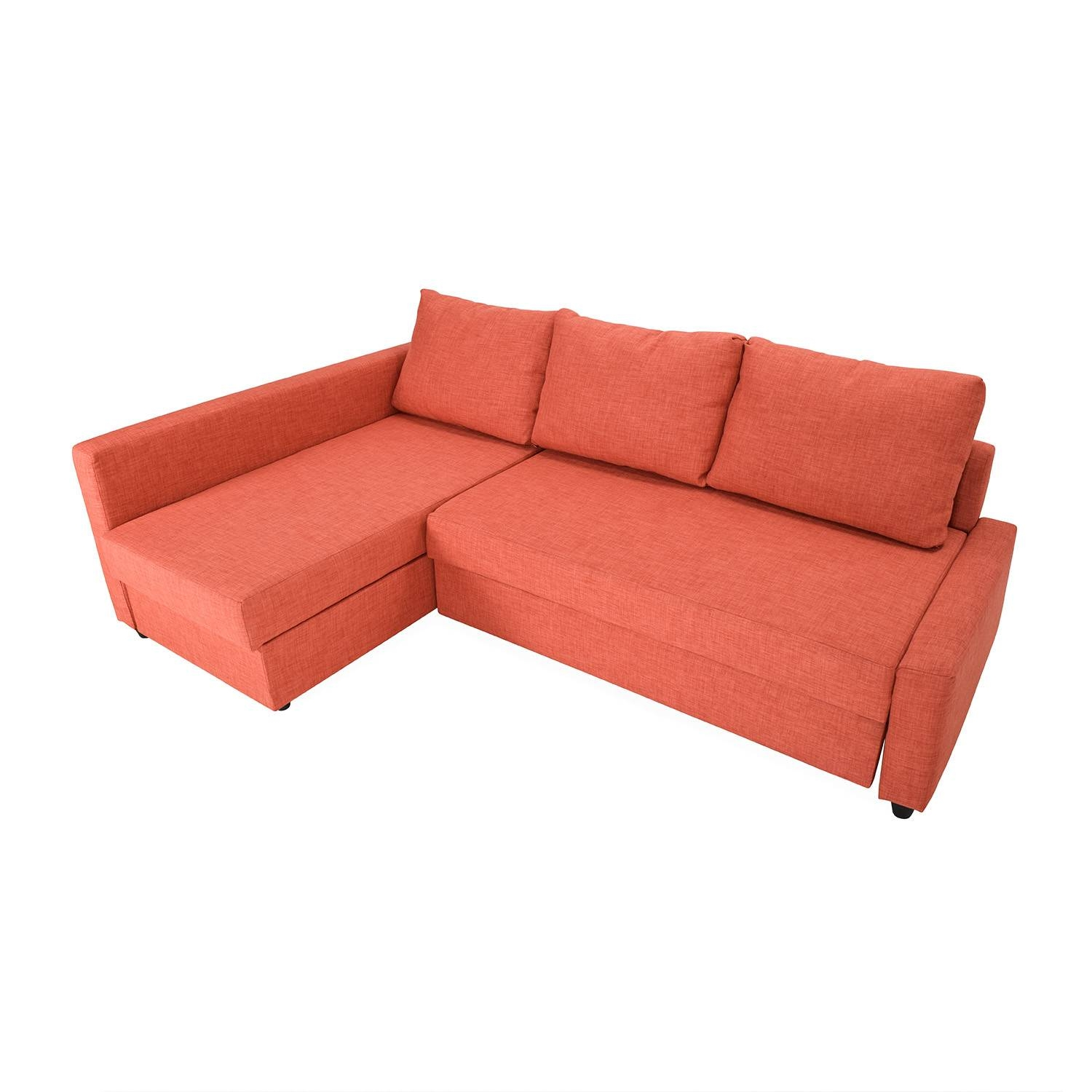 49% Off - Ikea Friheten Sofa Bed With Chaise / Sofas throughout Orange Ikea Sofas (Image 3 of 30)