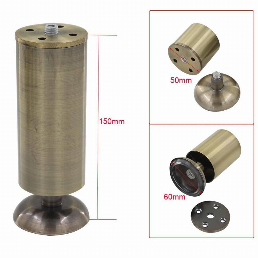 4Pcs 150Mm Height Adjustable Cabinet Legs Feet Bronze Aluminum with Adjustable Sofa Legs (Image 2 of 30)