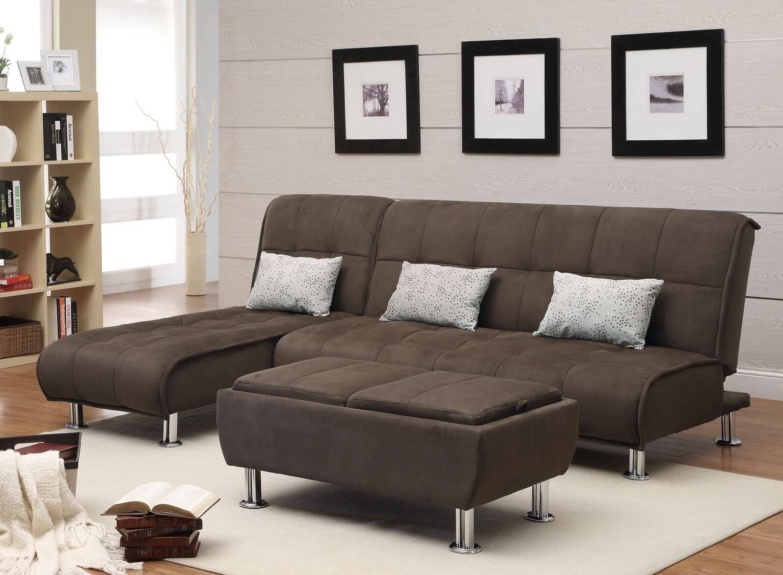 50 Beautiful Living Rooms With Ottoman Coffee Tables pertaining to Coffee Table for Sectional Sofa (Image 2 of 30)