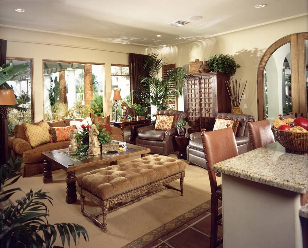 50 Beautiful Living Rooms With Ottoman Coffee Tables Throughout Leopard Ottoman Coffee Tables (Photo 20 of 30)