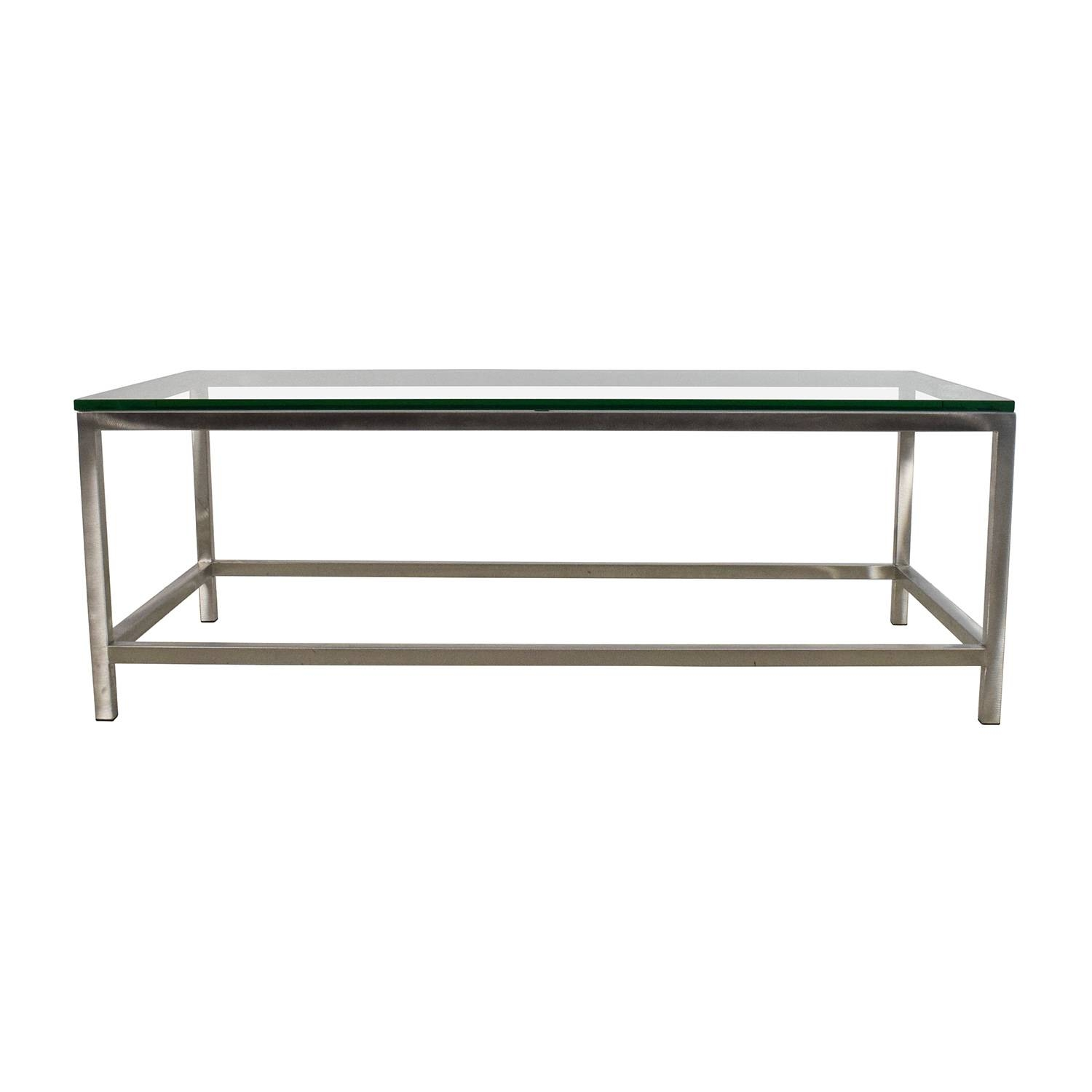 50% Off - Vintage Vintage Glass Coffee Table / Tables with regard to Vintage Glass Coffee Tables (Image 1 of 30)