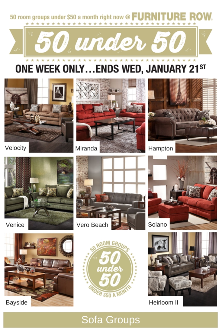 50 Under 50 Sale At Furniture Row – Front Door Pertaining To Sofa Mart Chairs (View 6 of 30)