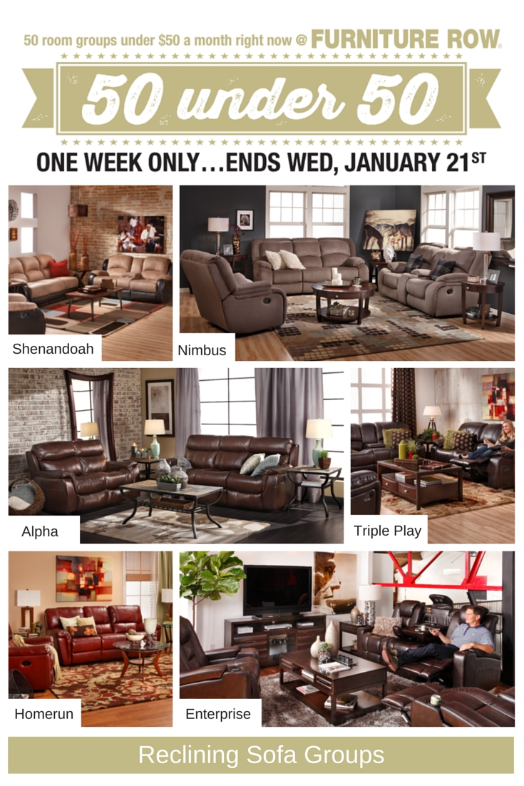 50 Under 50 Sale At Furniture Row   Front Door Throughout Sofa Mart Chairs (Photo 1 of 30)