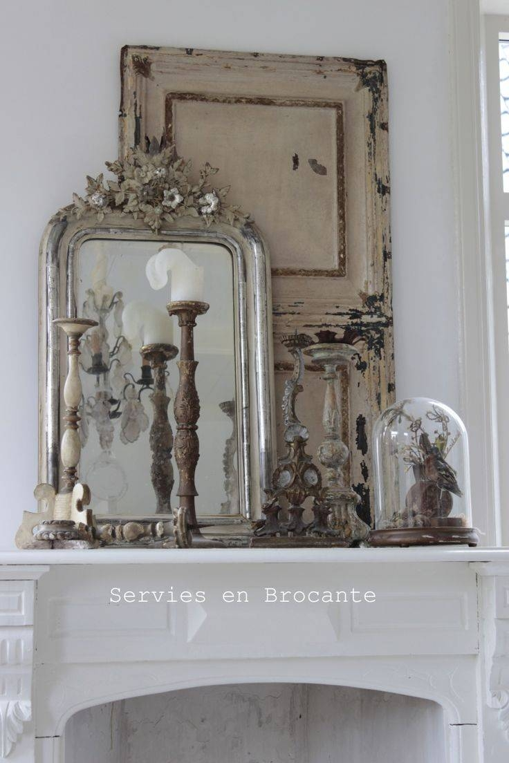 5016 Best All French Inspired Brocante Decor Images On Pinterest for Old French Mirrors (Image 5 of 25)