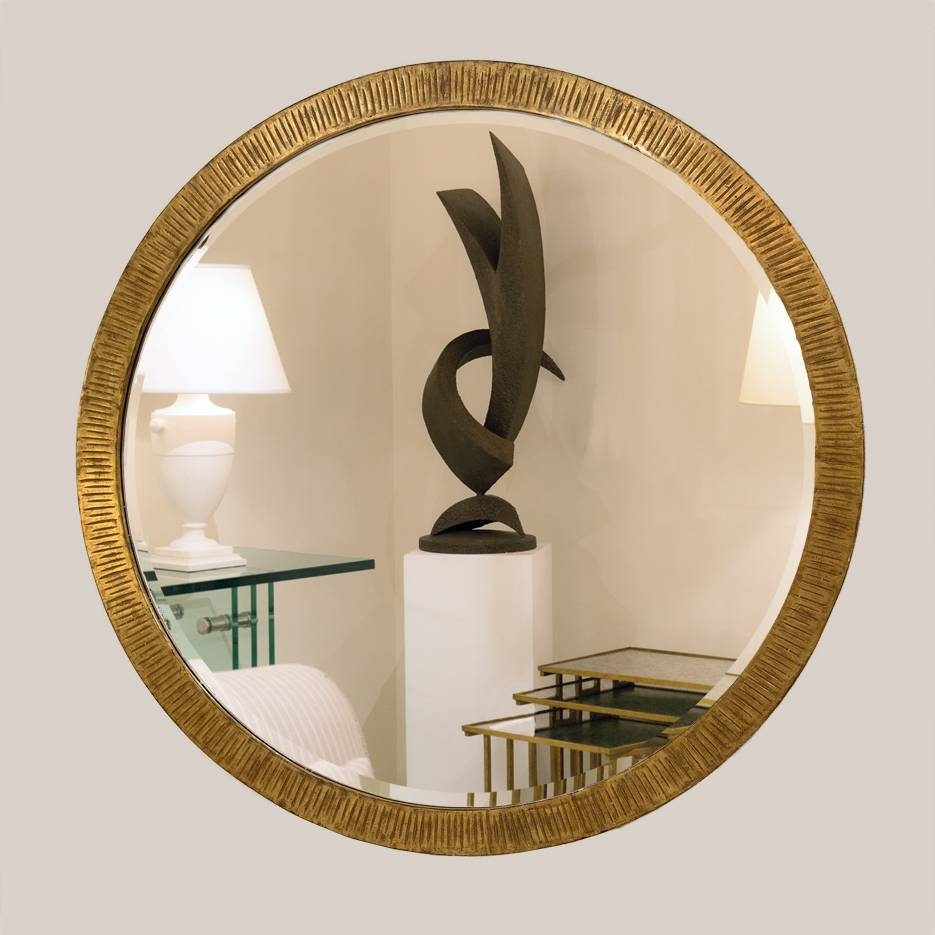 5019 Round Gold Mirror With Bevel | Paul Ferrante pertaining to Gold Round Mirrors (Image 1 of 25)