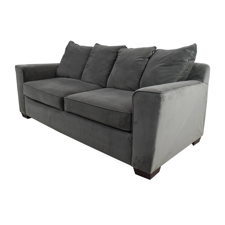 53% Off - Jennifer Convertibles Jennifer Convertibles Plush Sofa regarding Jennifer Sofas (Image 1 of 30)