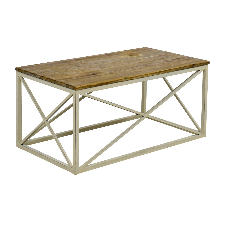 54% Off - Wayfair Wayfair Wooden And Metal Coffee Table / Tables intended for Wayfair Coffee Tables (Image 1 of 30)