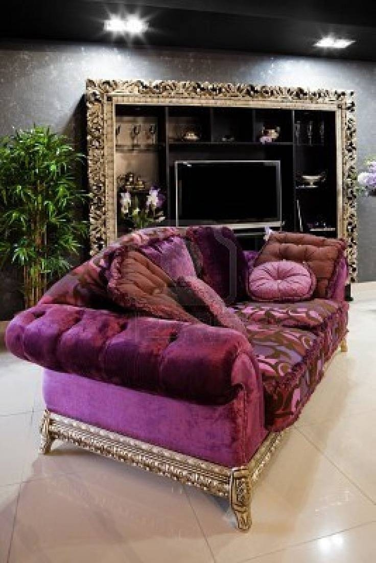 55 Best Purple Living Room Images On Pinterest | Purple Couch for Velvet Purple Sofas (Image 3 of 30)