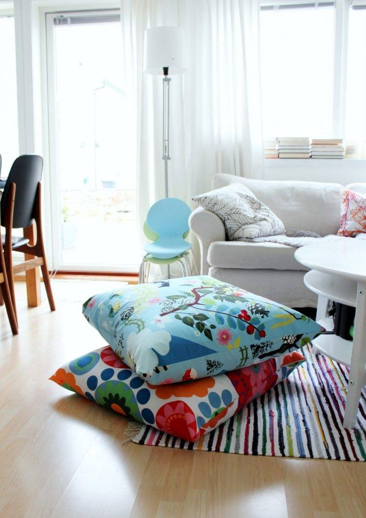 57 Cool Ideas To Decorate Your Place With Floor Pillows - Shelterness within Comfortable Floor Seating (Image 2 of 30)
