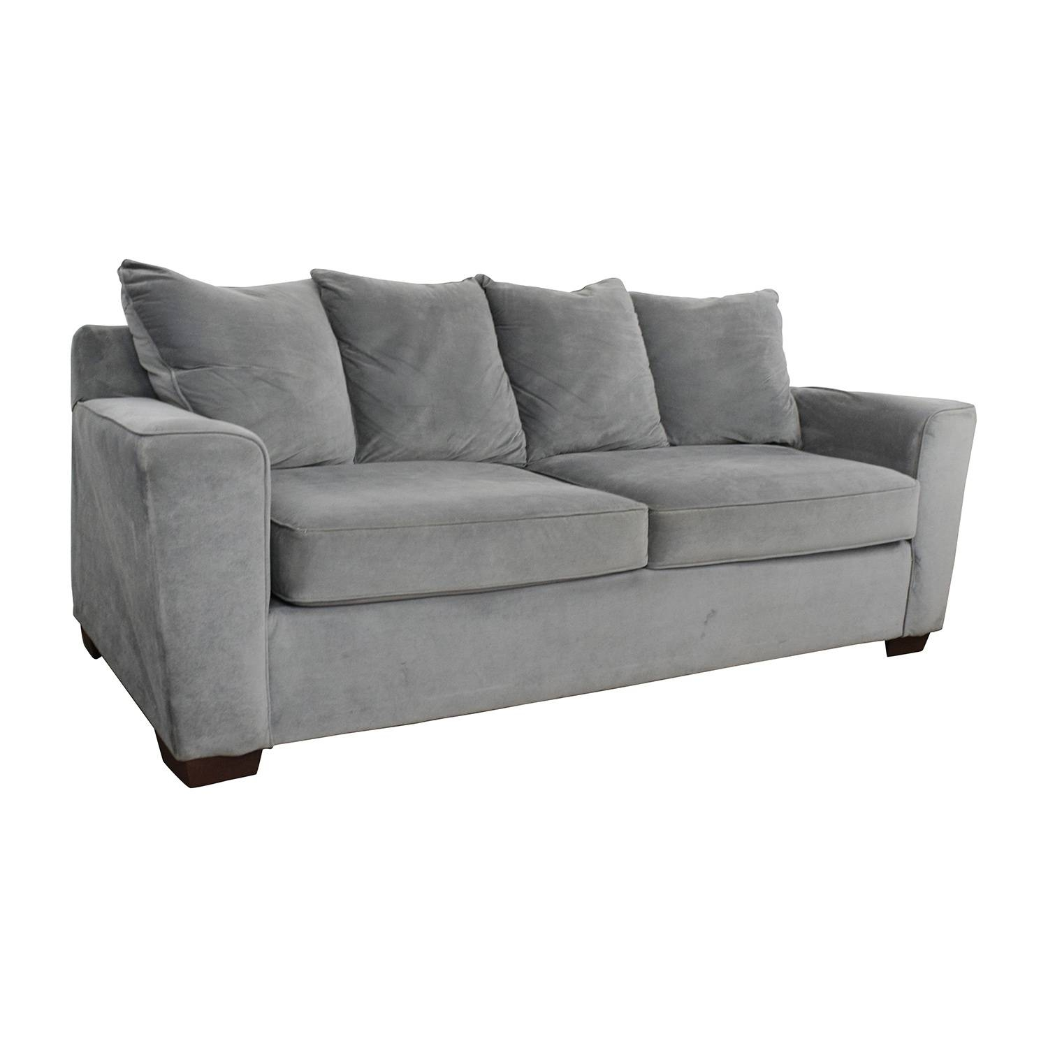 57% Off   Jennifer Convertibles Jennifer Convertibles Grey Couch Pertaining To Jennifer Sofas (Photo 15 of 30)