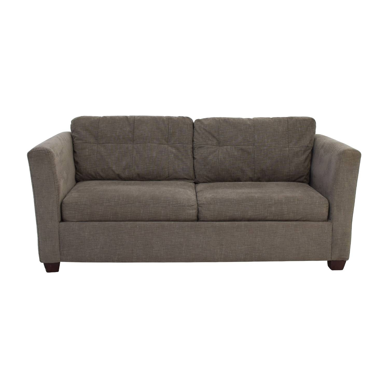 58% Off - Bauhaus Bauhaus Grey Queen Sleeper Sofa / Sofas regarding Bauhaus Sectional Sofas (Image 1 of 30)