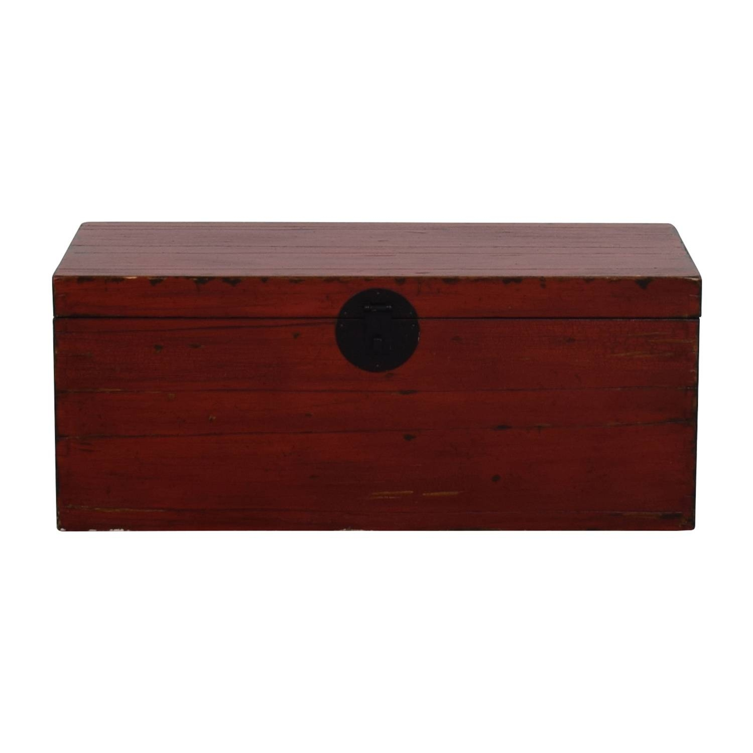 59% Off - Asian Style Red Rustic Trunk / Storage throughout Asian Sideboards (Image 4 of 30)