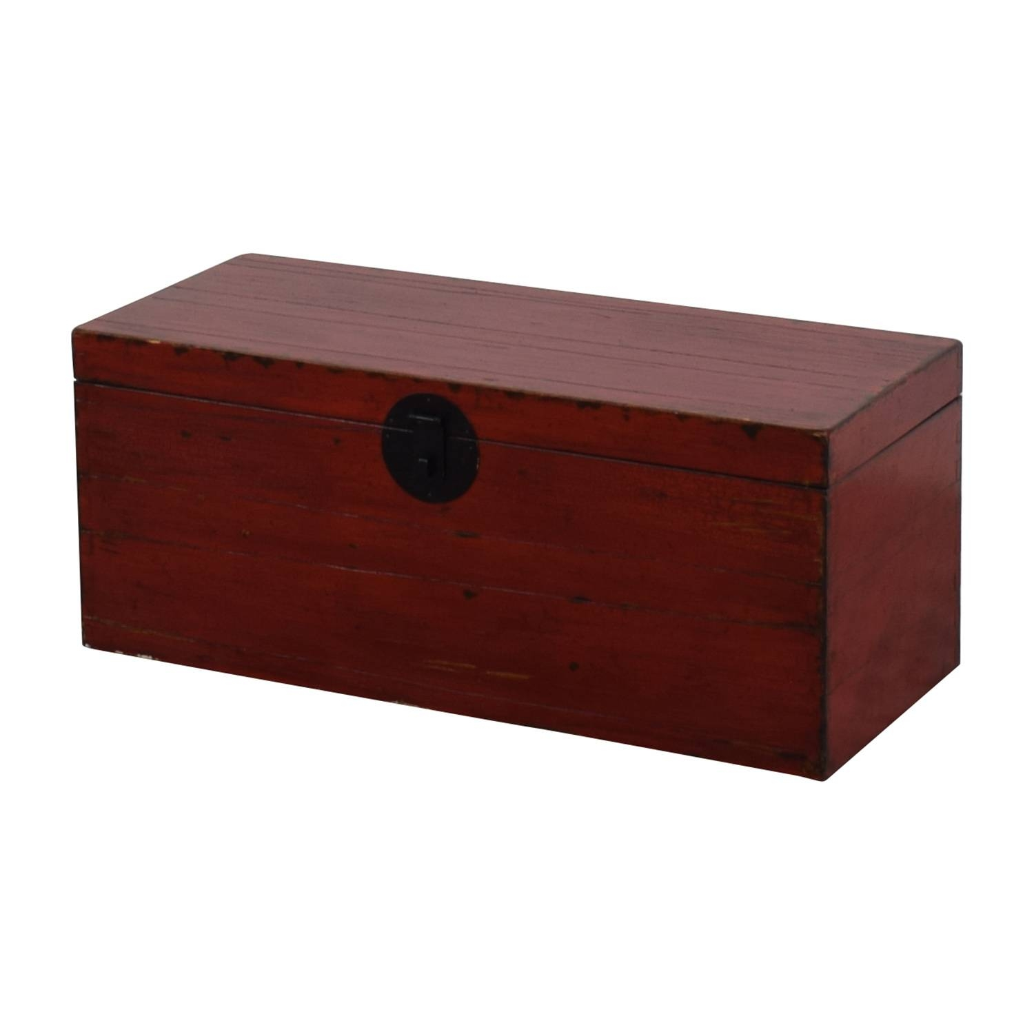 59% Off - Asian Style Red Rustic Trunk / Storage throughout Asian Sideboards (Image 3 of 30)