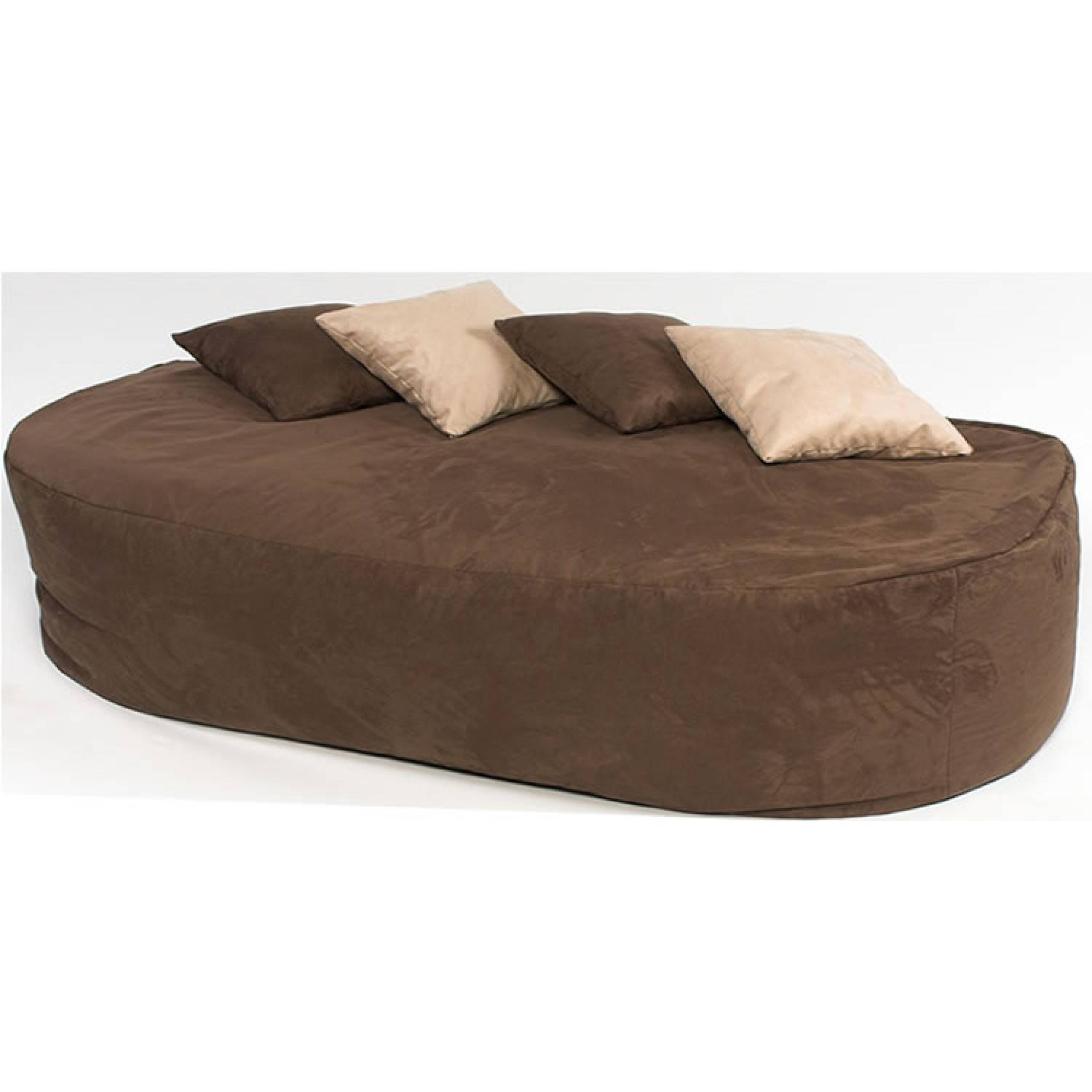6 Ft Bed Sofa Faux Suede with regard to Faux Suede Sofa Bed (Image 1 of 25)