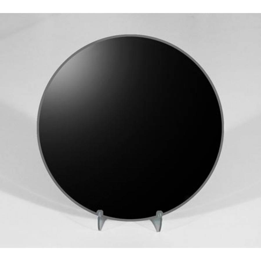 6 Inch Round Black Scrying Mirror | Divination, Magic Mirrors for Round Black Mirrors (Image 2 of 25)