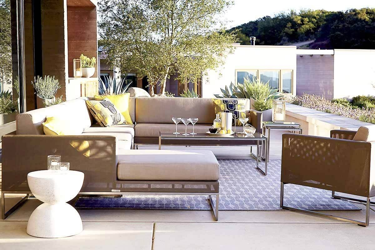 6 Outdoor Sectional Sofas For A Contemporary Patio within Crate and Barrel Sectional Sofas (Image 2 of 30)
