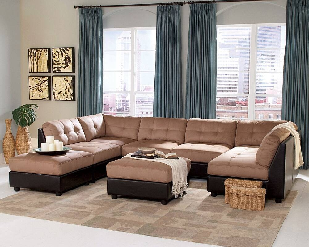 6 Pc Claude Collection Two with 6 Piece Modular Sectional Sofa (Image 1 of 30)