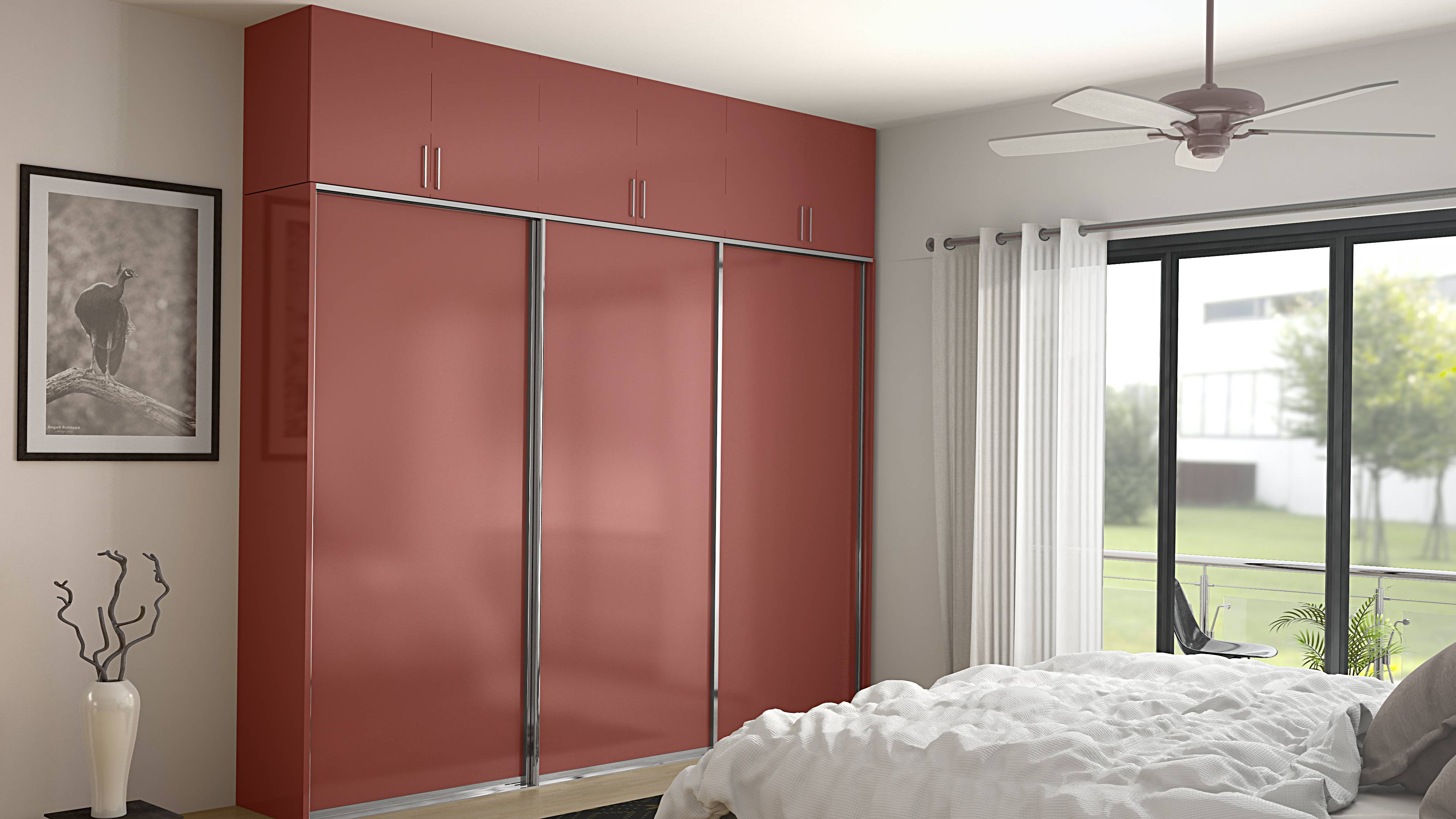 6 Trendy Wardrobe Door Designs From Homelane - Homelane in Coloured Wardrobes (Image 1 of 15)
