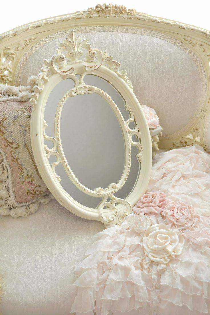 63 Best Painted Mirrors Images On Pinterest | Mirror Mirror regarding Oval Shabby Chic Mirrors (Image 3 of 25)