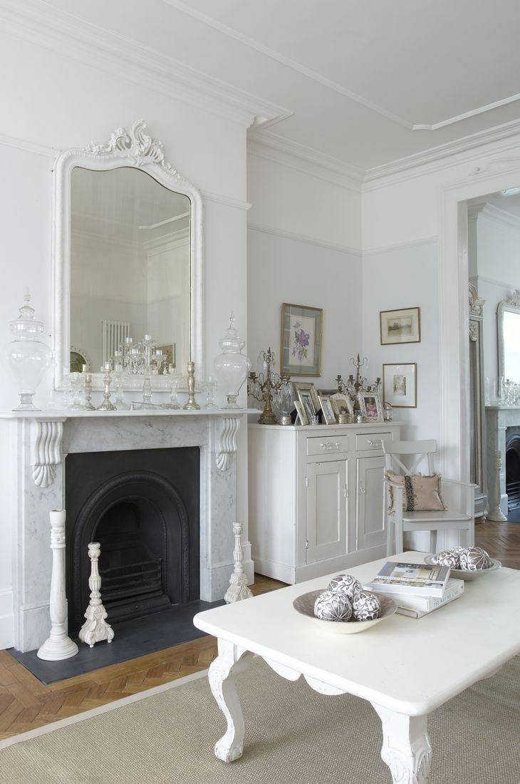 64 Best Shabby Chic ~ Fireplaces Images On Pinterest | Shabby Chic In White Shabby Chic Wall Mirrors (Photo 12 of 25)