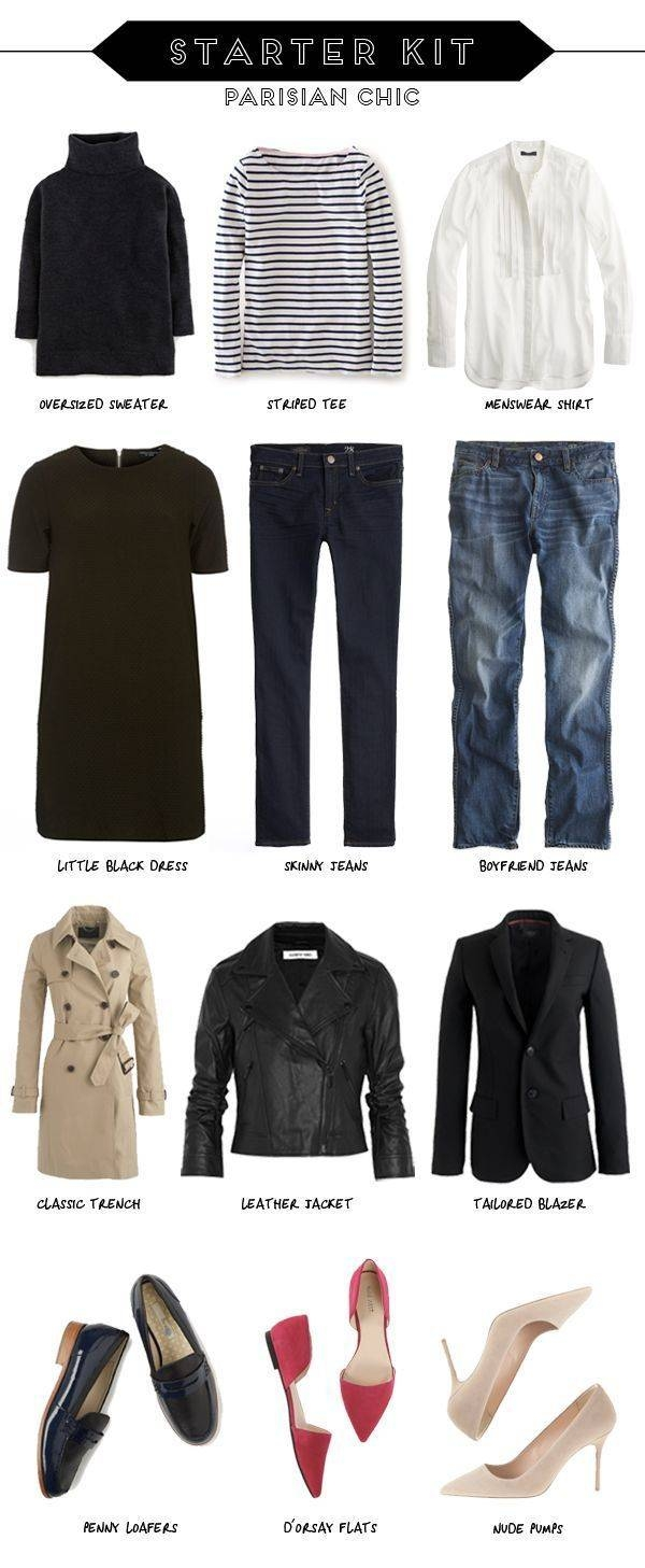 645 Best French Minimalist Inspired Capsule Wardrobe Images On in Black French Style Wardrobes (Image 1 of 15)