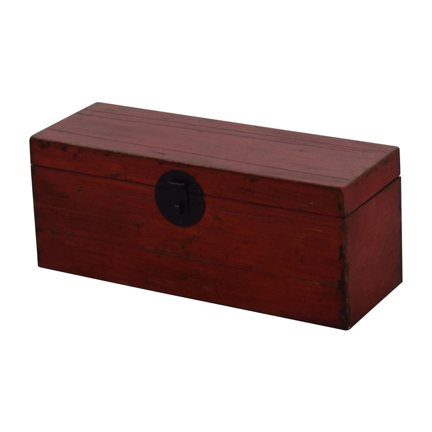 65% Off - Asian Style Red Rustic Trunk / Storage inside Asian Sideboards (Image 5 of 30)