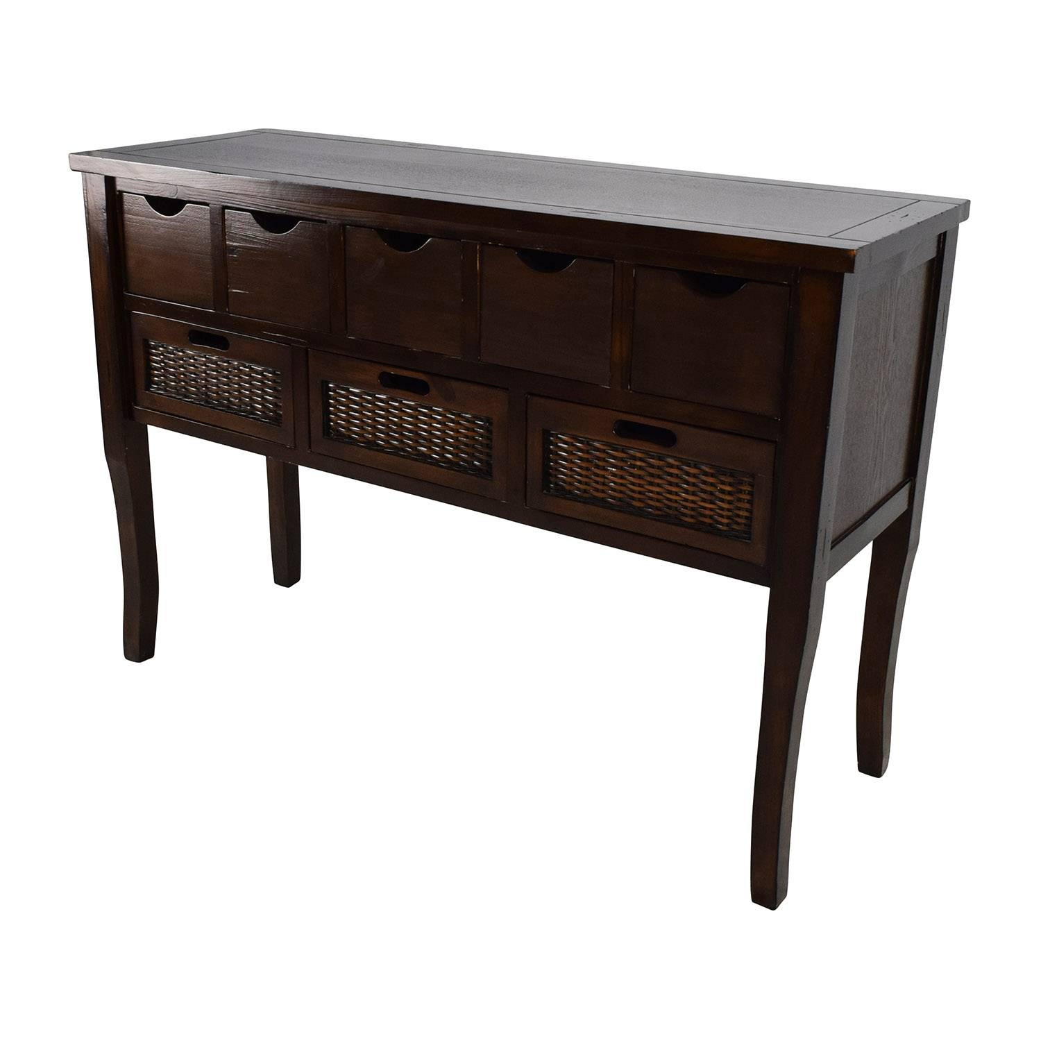 65% Off   Unknown Brown Wood Multi Drawer Sideboard / Storage For Multi Drawer Sideboards (Photo 7 of 30)