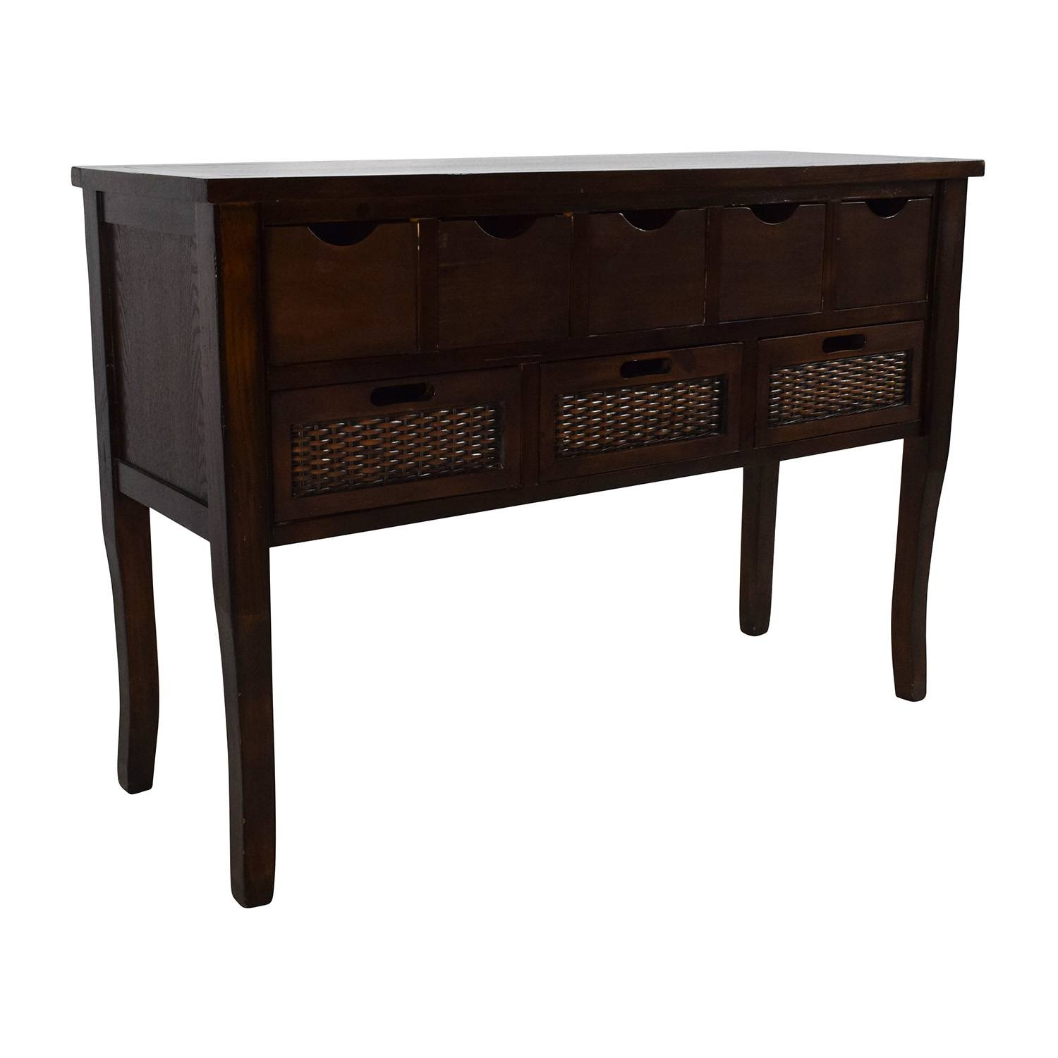 65% Off - Unknown Brown Wood Multi Drawer Sideboard / Storage for Multi Drawer Sideboards (Image 1 of 30)