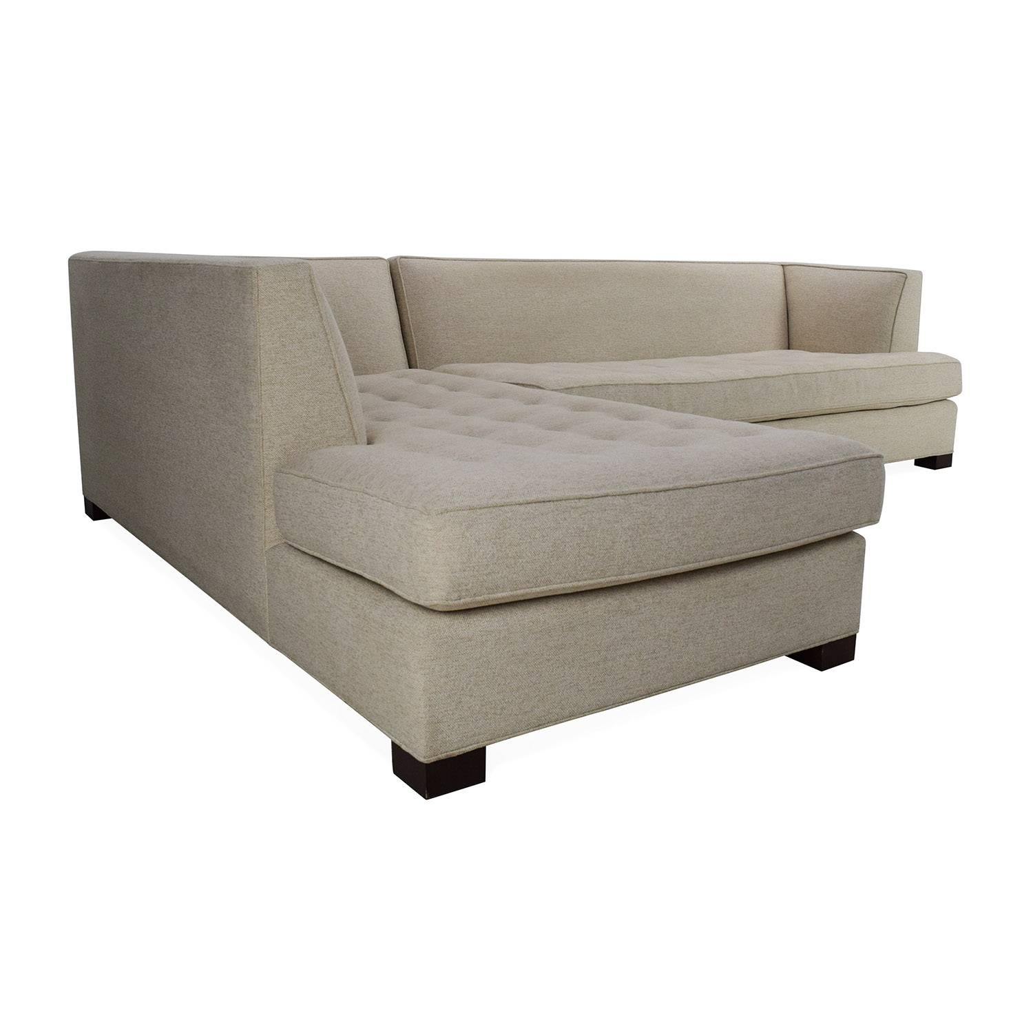 66% Off - Mitchell Gold + Bob Williams Mitchell Gold + Bob pertaining to Gold Sectional Sofa (Image 2 of 25)