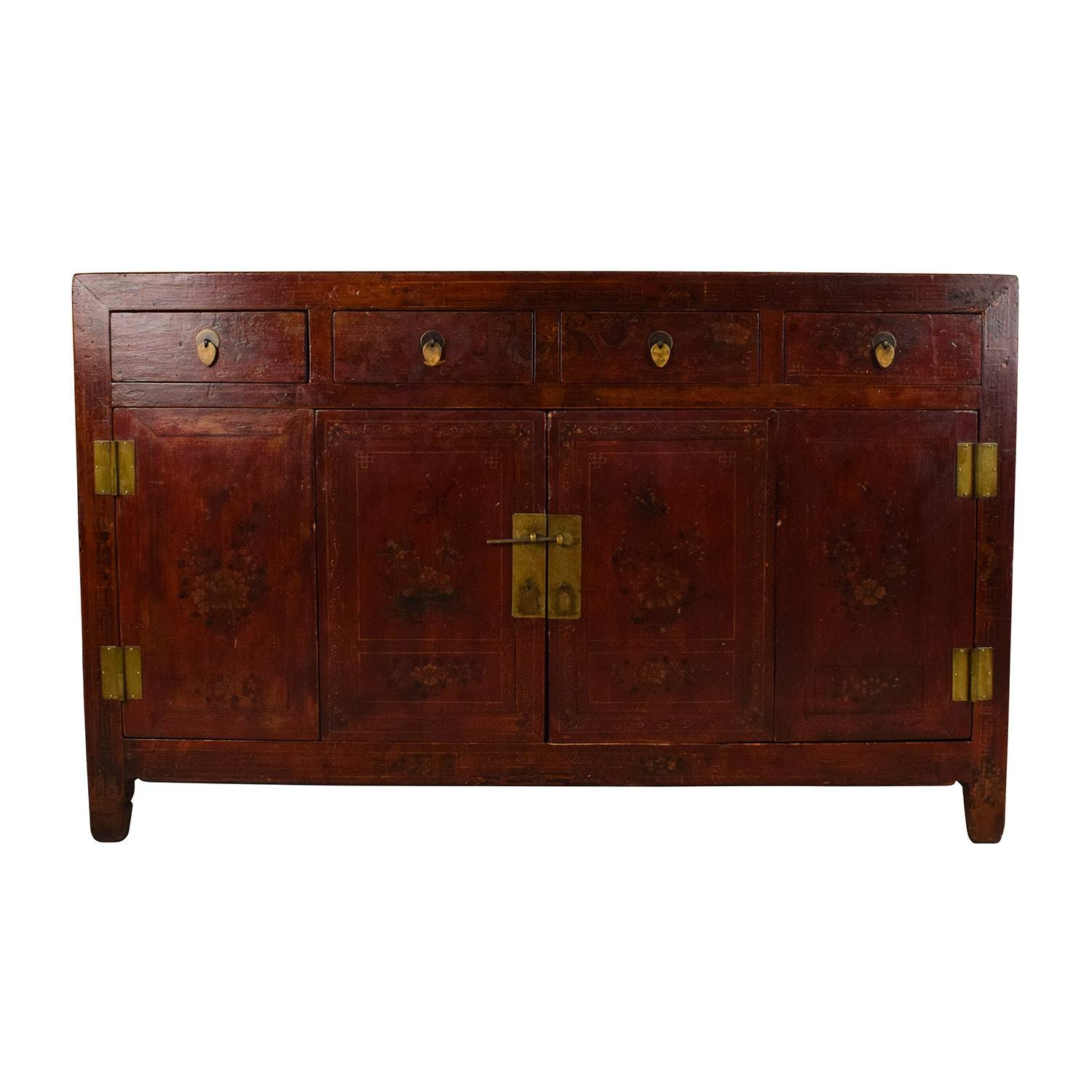 66% Off - Solid Wood Southeast Asian Credenza / Storage intended for Asian Sideboards (Image 7 of 30)