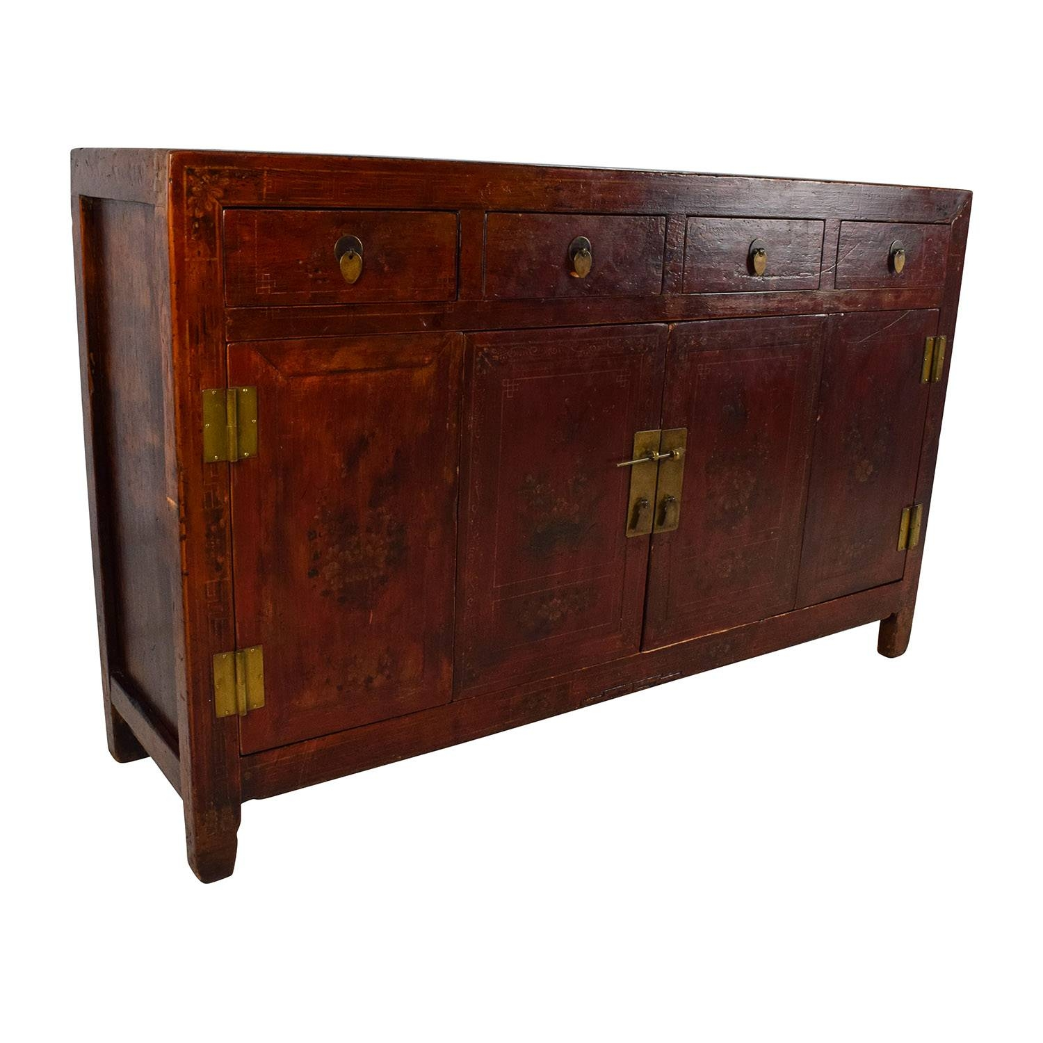 66% Off - Solid Wood Southeast Asian Credenza / Storage regarding Asian Sideboards (Image 9 of 30)