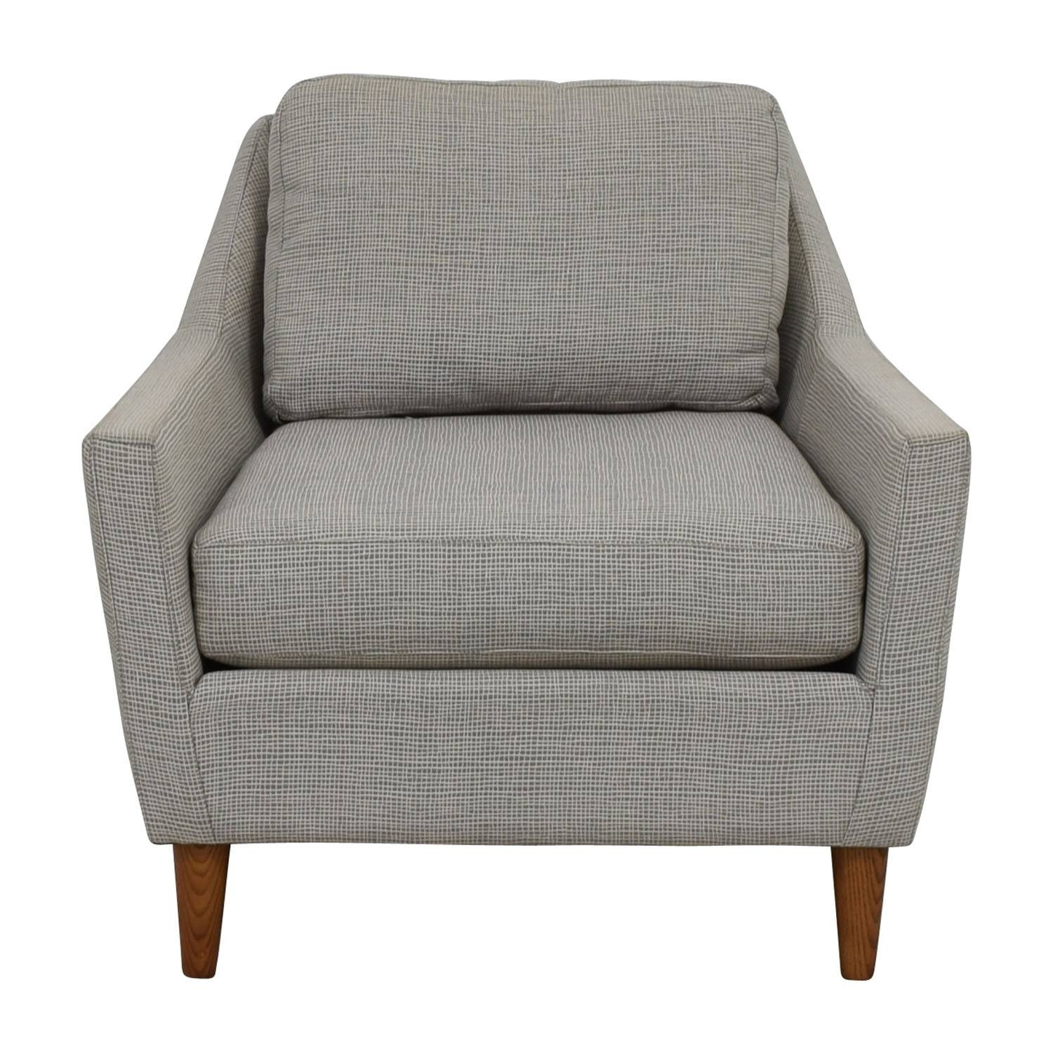 66% Off   West Elm West Elm Grey Everett Sofa Chair / Chairs Inside Sofa Chairs (Photo 7 of 30)