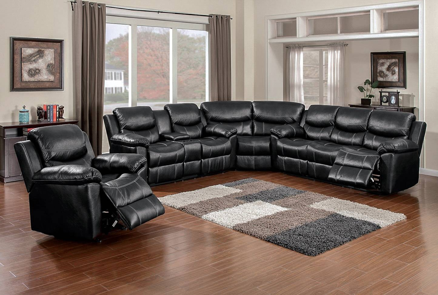 66008 Champion Black Sectional – Awfco Catalog Site With Champion Sectional Sofa (Photo 18 of 30)